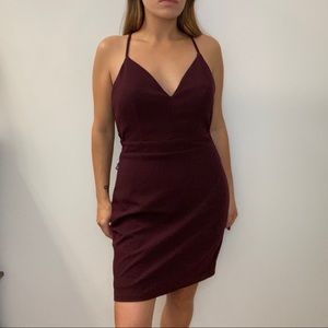 City Triangles Burgundy Dress Holiday Christmas
